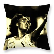 Venus Williams Match Point Throw Pillow