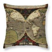 Vera Totius Expeditionis Nauticae Of 1595 Throw Pillow