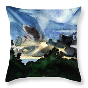 Veradero Sunset Throw Pillow