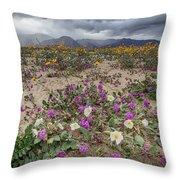 Verbena And Primrose Throw Pillow