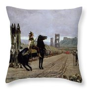 Vercingetorix Before Caesar Throw Pillow