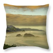 Verdant Coast Throw Pillow
