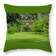 Verdant England Throw Pillow