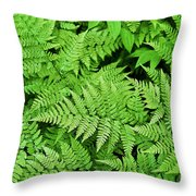 Verdant Ferns Throw Pillow
