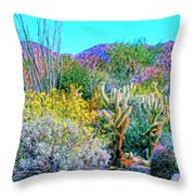 Verdant Spring Mohave Desert Throw Pillow