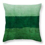 Verde Landscape 1- Art By Linda Woods Throw Pillow