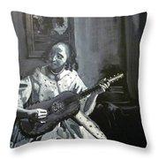 Vermeer Guitar Player Throw Pillow