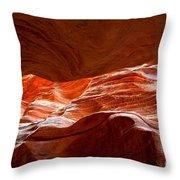Vermilion Cliffs Abstract Throw Pillow