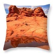 Vermilion Cliffs Reflections Throw Pillow