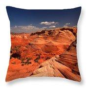 Vermilion Cliffs Rugged Landscape Throw Pillow