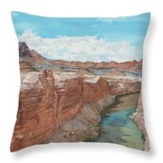 Vermilion Cliffs Standing Guard Over The Colorado Throw Pillow