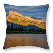 Vermillion Lakes And Mt Rundle Throw Pillow