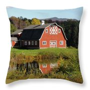 Vermont Barn Throw Pillow