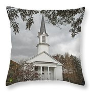 Vermont Church Throw Pillow