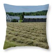Vermont Farmhouse With Hay Throw Pillow