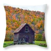 Vermont Garden Shed In Autumn Throw Pillow