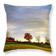 Vermont Hilltop Sunrise Throw Pillow
