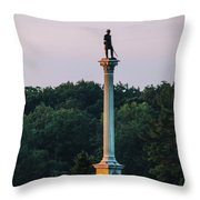 Vermont Monument Throw Pillow
