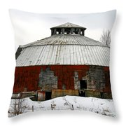 Vermont Round Barn Throw Pillow