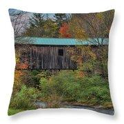 Vermont Rural Autumn Beauty Throw Pillow