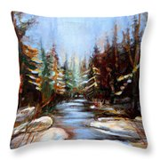 Vermont Stream Throw Pillow