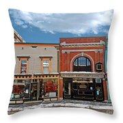 Vermont Street Scene Throw Pillow