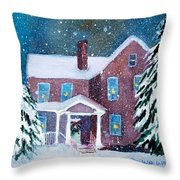 Vermont Studio Center In Winter Throw Pillow