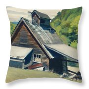 Vermont Sugar House Throw Pillow