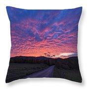 Vermont Sunset Throw Pillow