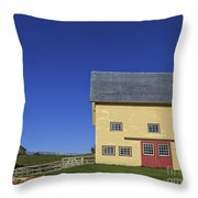 Vermont Yellow Barn 8x10 Ratio Throw Pillow