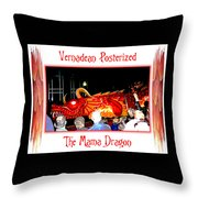 Vernadean Posterized - The Mama Dragon Throw Pillow