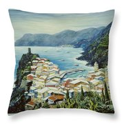 Vernazza Cinque Terre Italy Throw Pillow