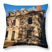 Vernon House Newport Rhode Island Throw Pillow