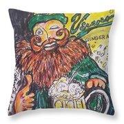 Vernors Ice Cream Float Throw Pillow