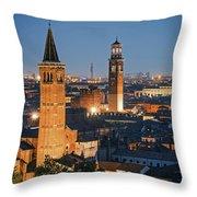 Verona At Night Throw Pillow
