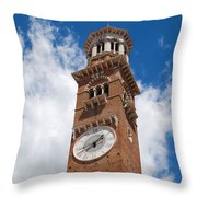Verona Italy - Beautiful Torre Dei Lamberti Throw Pillow
