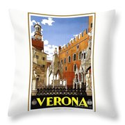 Verona Italy Throw Pillow
