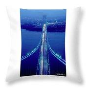 Verrazano Bridge, Ny Throw Pillow