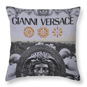 Versace Logo Throw Pillow