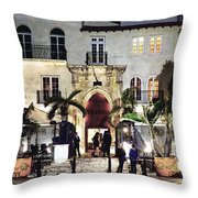 Versace Mansion South Beach Throw Pillow