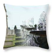 Versailles Fountains Throw Pillow