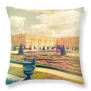 Versailles Gardens And Palace In Shabby Chic Style Throw Pillow