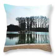 Versailles Park Throw Pillow