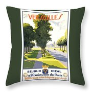 Versailles Travel Poster Throw Pillow