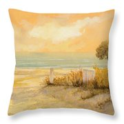 Verso La Spiaggia Throw Pillow by Guido Borelli