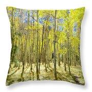 Vertical Aspen Forest Throw Pillow