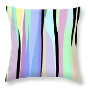 Vertical Coloration Throw Pillow