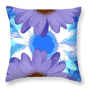 Vertical Daisy Collage Throw Pillow