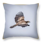Vertical Eagle Triptych Throw Pillow