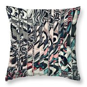 Vertical Graphic Layers Throw Pillow